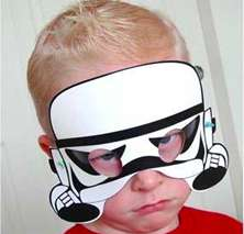 photograph about Star Wars Printable Mask called Printable Galactic Masks : Star Wars Printable Masks