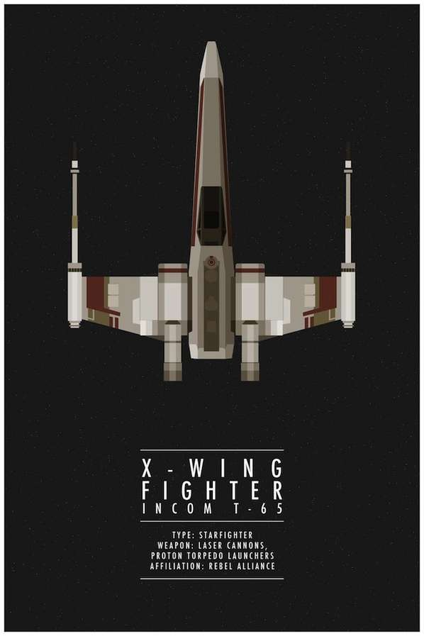 Iconic Sci-Fi Ship Posters