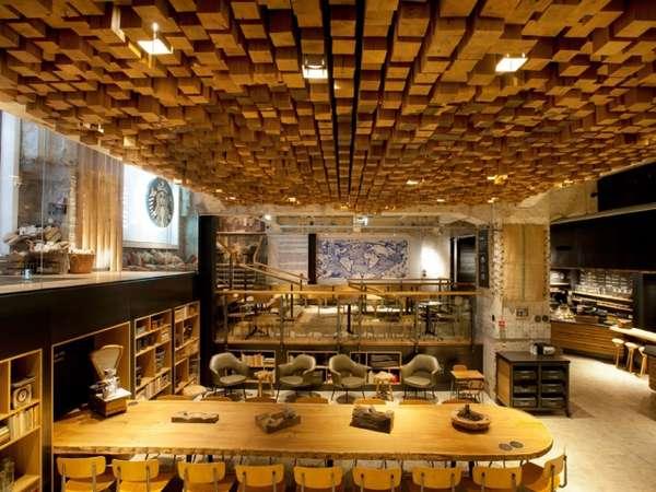 Building Block Cafes Starbucks Amsterdam Rembrandtplein