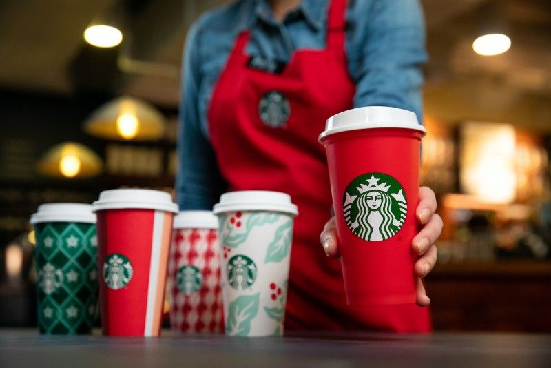 Festive Eco Takeaway Cups Starbucks Holiday Cups