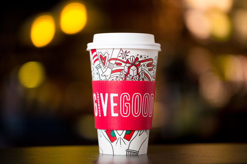 Festive Color-In Coffee Cups