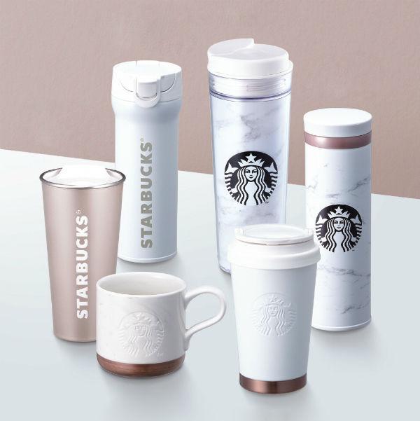 Minimalist Marble Coffee Mugs Starbucks Korea Marble