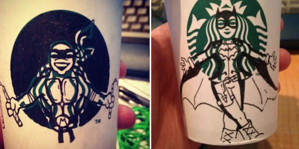 Starbucks Logo Drawings
