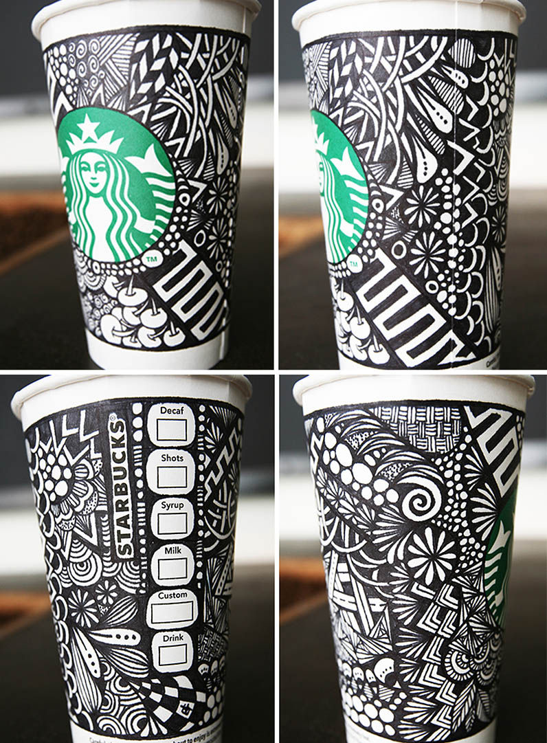 Artful Cup Design Contests Starbucks White Cup