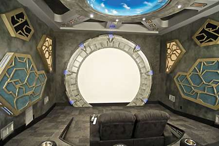 Geeky Home Theaters Home Movie Systems Bat Cave Theatre
