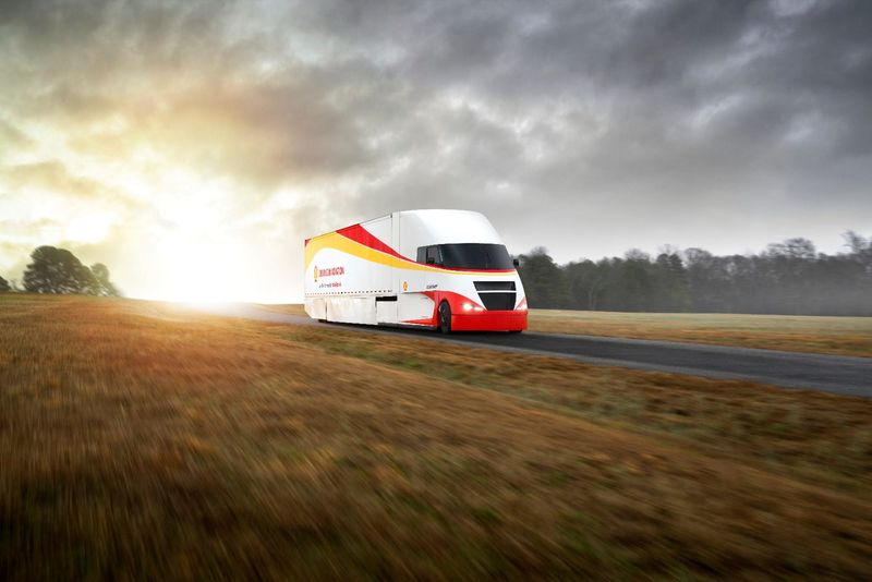 Solar Panel-Topped Tractor Trailers