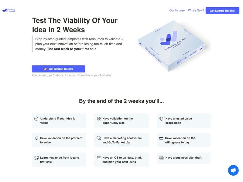 Idea-Validating Startup Solutions - 'Startup Builder' Tests the Viability of an Idea in Two Weeks (TrendHunter.com)