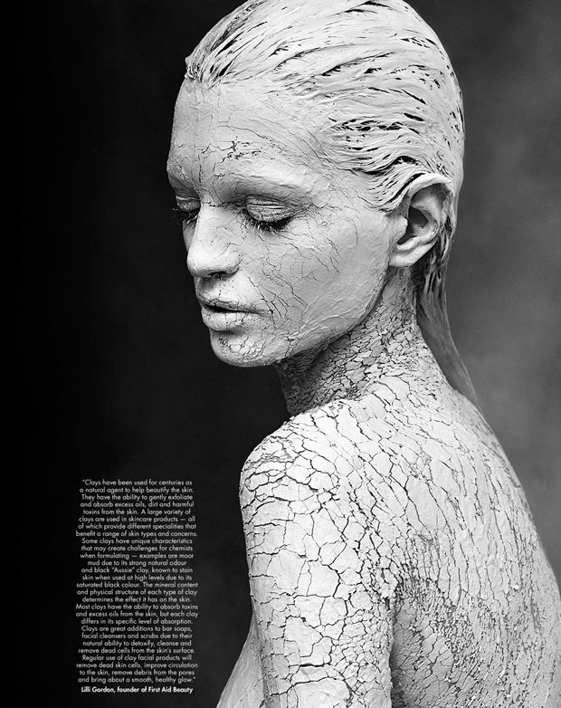 Clay-Covered Beauty Portraits