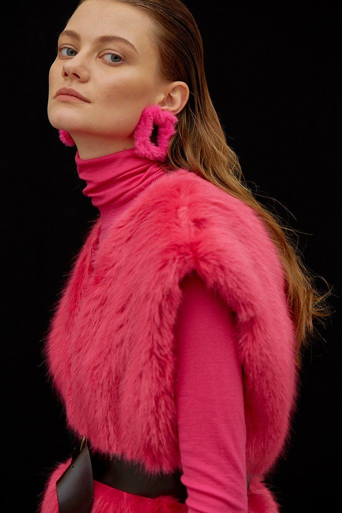 Faux Fur Statement Earrings