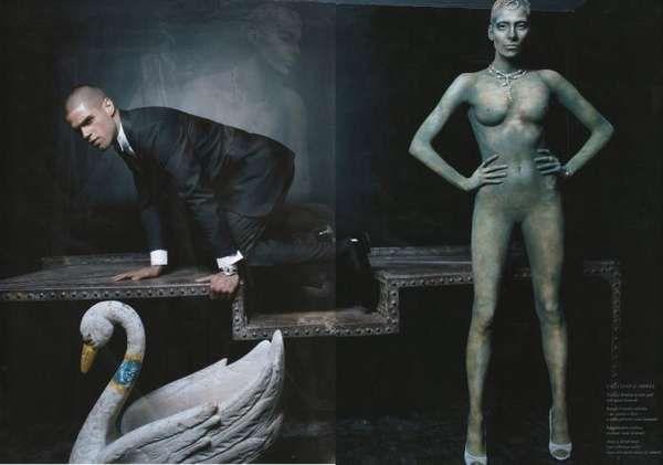 Human Sculptures Through Body Paint