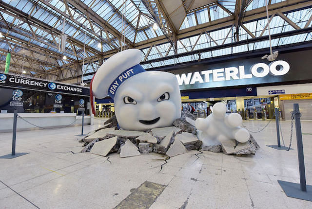 Cinematic Marshmallow Train Stations