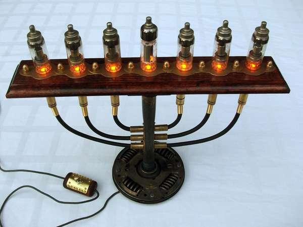 Vintage Victorian Menorahs Steampunk Industrial Jewish