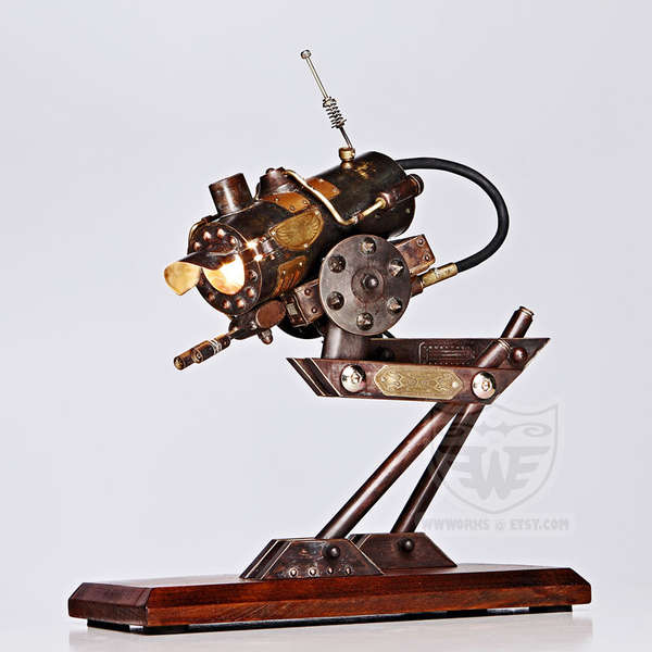 Steampunk Walker Desk Lamps Steampunk Robot Walker Lamp