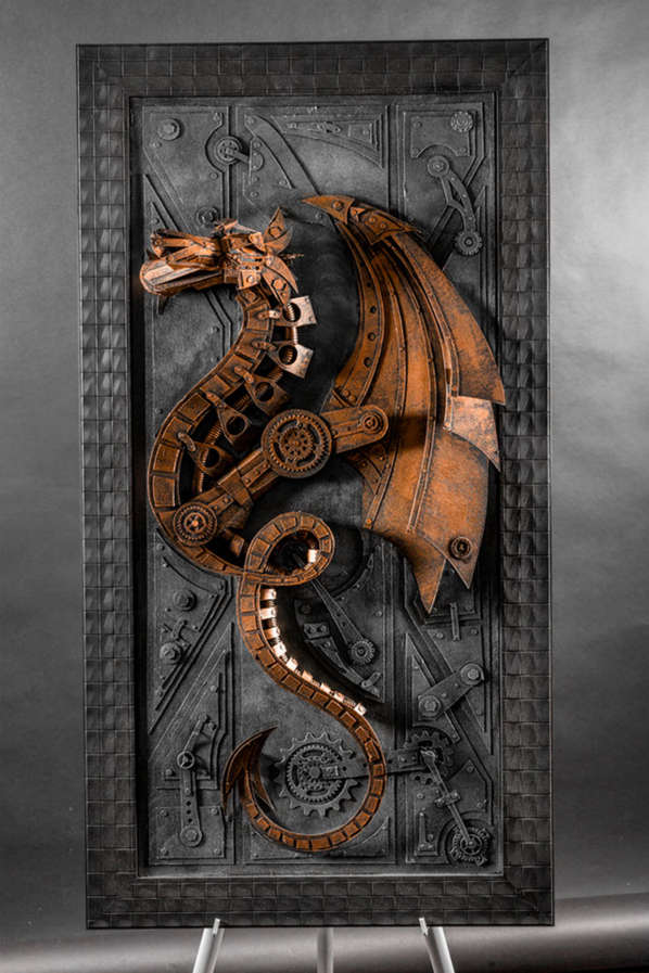 Eco-Friendly Steampunk Sculptures