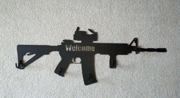 Assault Rifle Coat Hangers