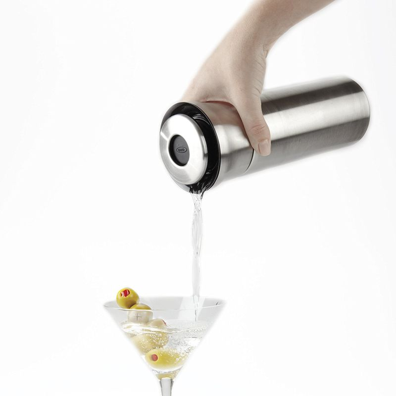 Button-Activated Cocktail Shakers