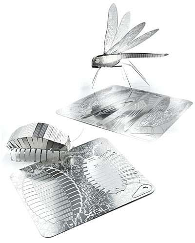Steel Origami Insects