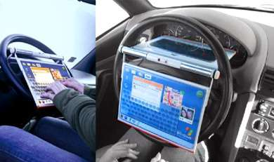 Steering Wheel Laptop