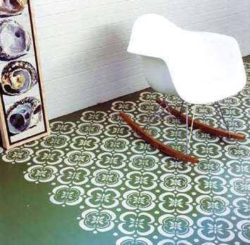 Imaginative Stenciled Floors