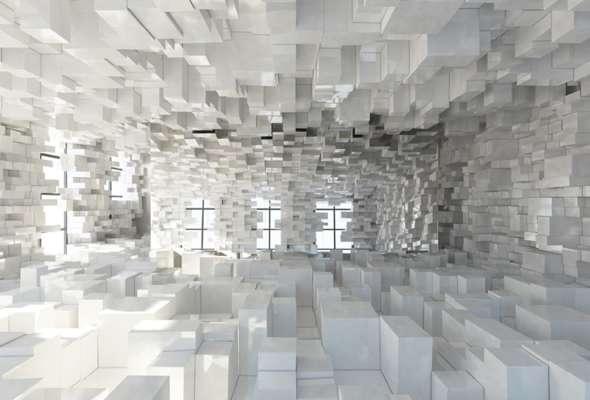 real life pixelation art - Pixelated Interior Design