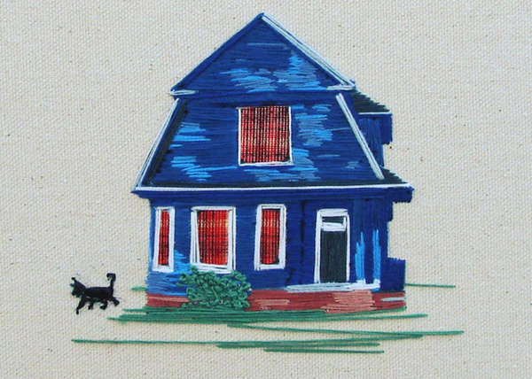 Architectural Needlepoint Artworks