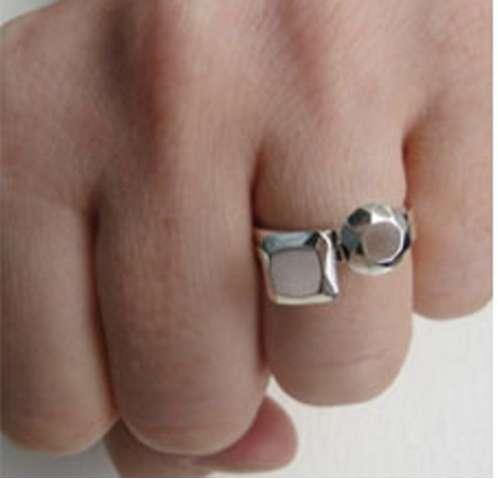 Bejeweled Metal Rings