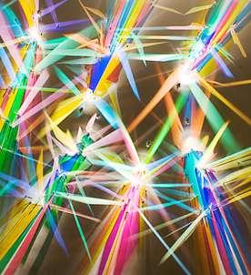 Reflective Rainbow Glass Installtions Stephen Knapp