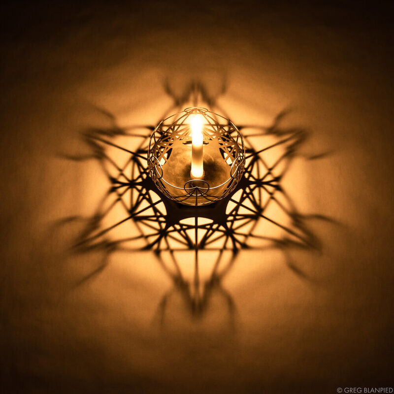 Stereographic Projection Candle Holders
