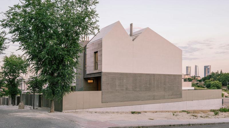 Mountain-Inspired Concrete Houses