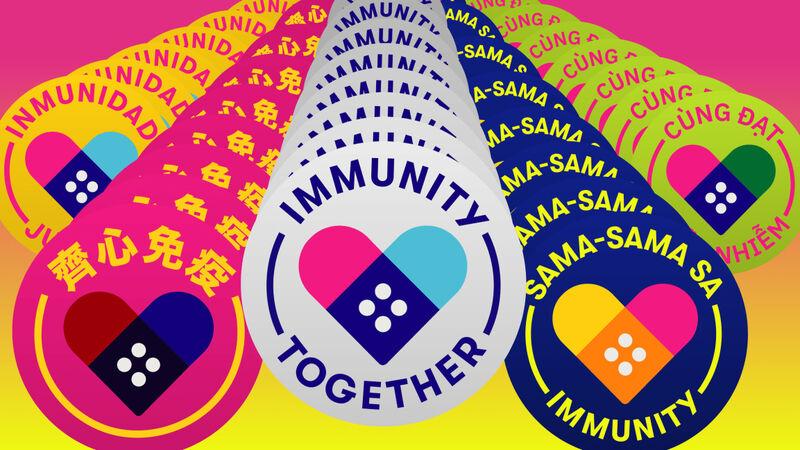 Free Sticker Vaccination Campaigns