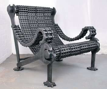 Industrial art furniture weighty designs reclaimed steel for Industrial design chair