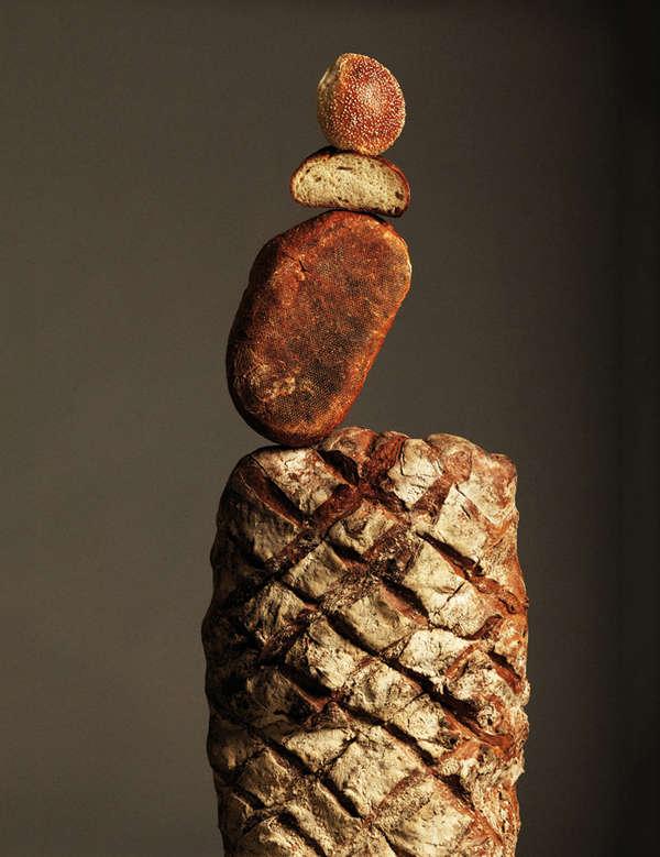 Barely Balanced Bread Photography