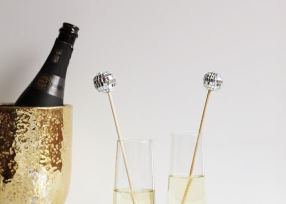 Glitzy Disco Stir Sticks