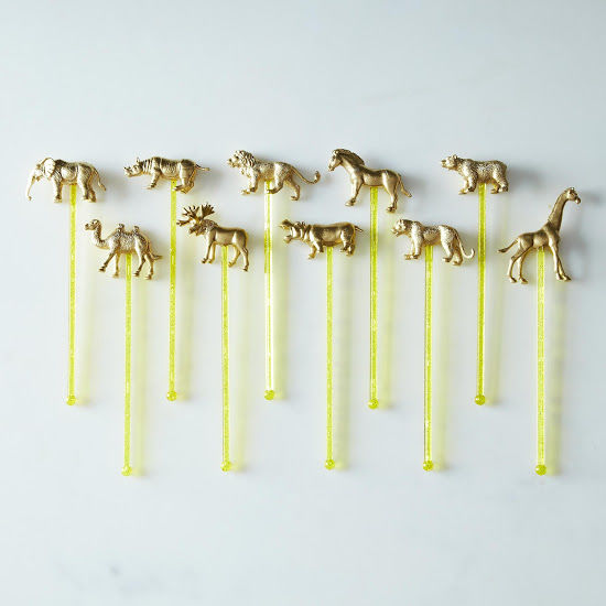 Animal-Adorned Cocktail Accessories
