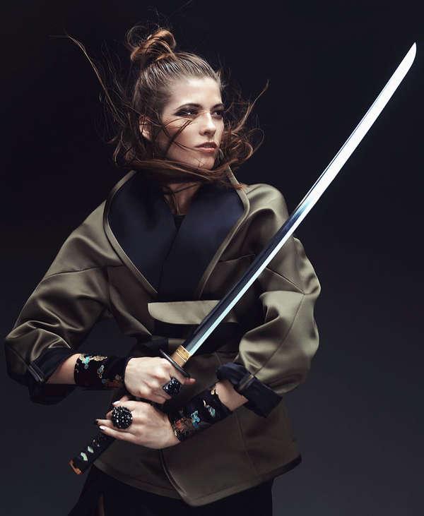 Japanese samurai school girl strapon femdom - 3 3