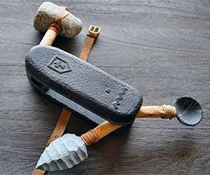 Cavemen Utility Tools Stone Age Swiss Army Knife