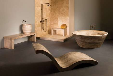 Sinuous Marble Bathrooms