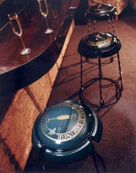 Champagne Cork Capsule Stools