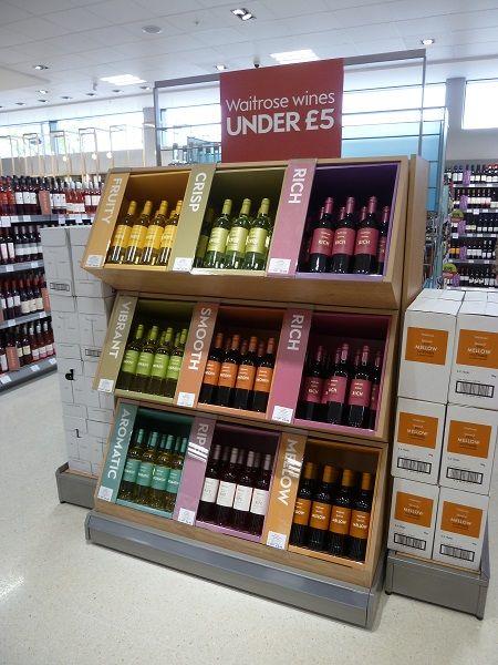 Flavorful Vino Displays Store Display