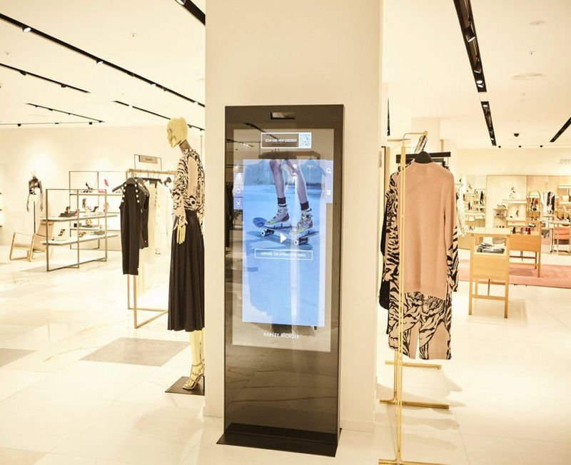 Shoppable Department Store Screens