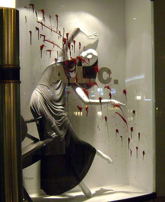 Morbid Storefront Displays