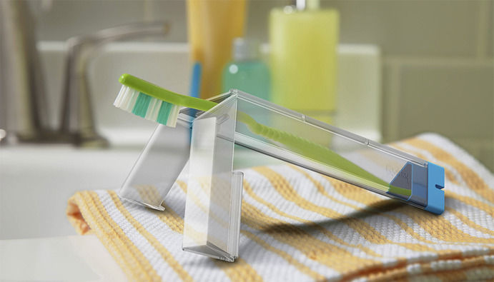 Tripod Toothbrush Containers