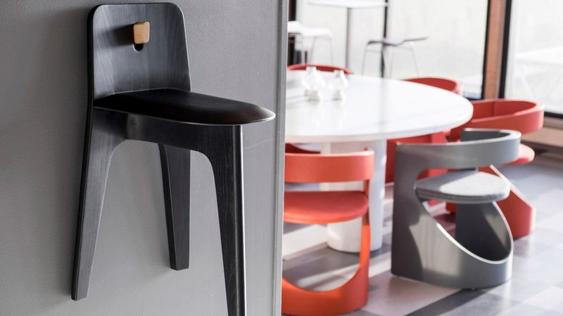 Hanging Three-Legged Stools