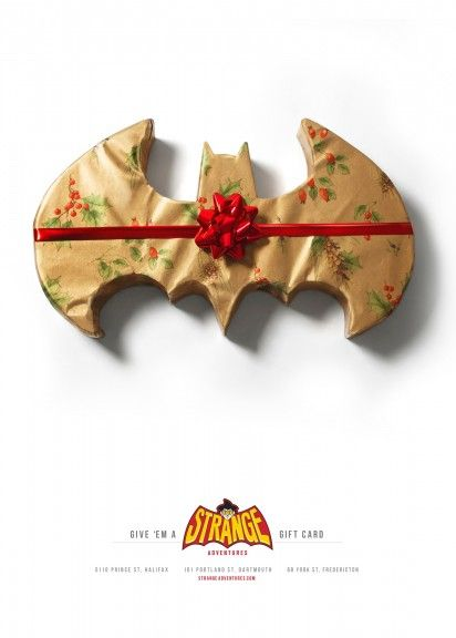 Gift Wrapped Superhero Logos