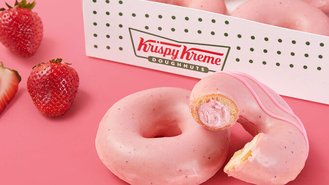 Strawberry-Infused Glazed Doughnuts