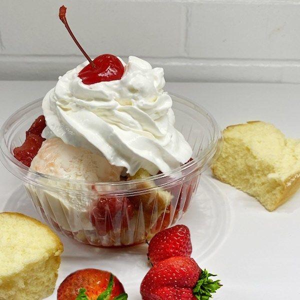 Seasonal Strawberry Shortcake Sundaes