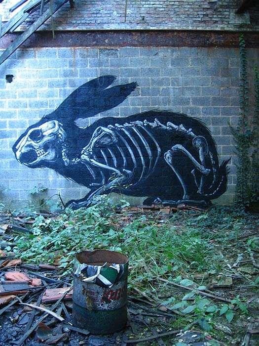 Skeletal Street Art