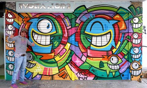 Funky Fish Street Art