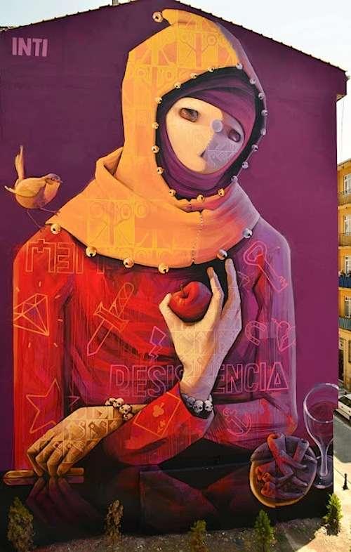 Mysterious Figure Street Art