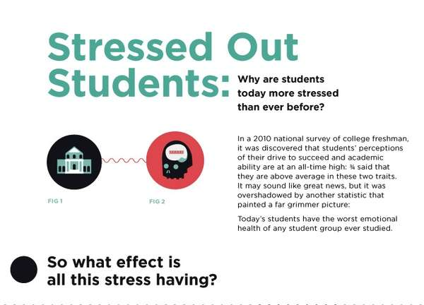 the effects of stress in a students life in college Higher incidences of stress,  pressures to succeed affect student health  and miseducated students, was awarded notable book in education by the american.